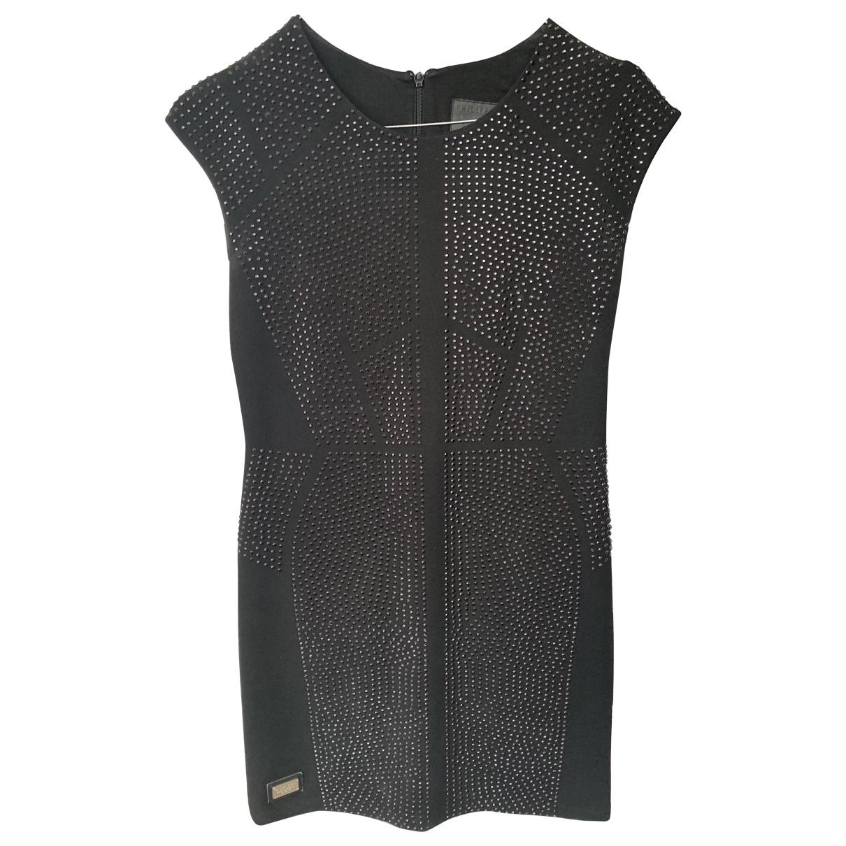 Philipp Plein - Robe   pour femme en coton - noir