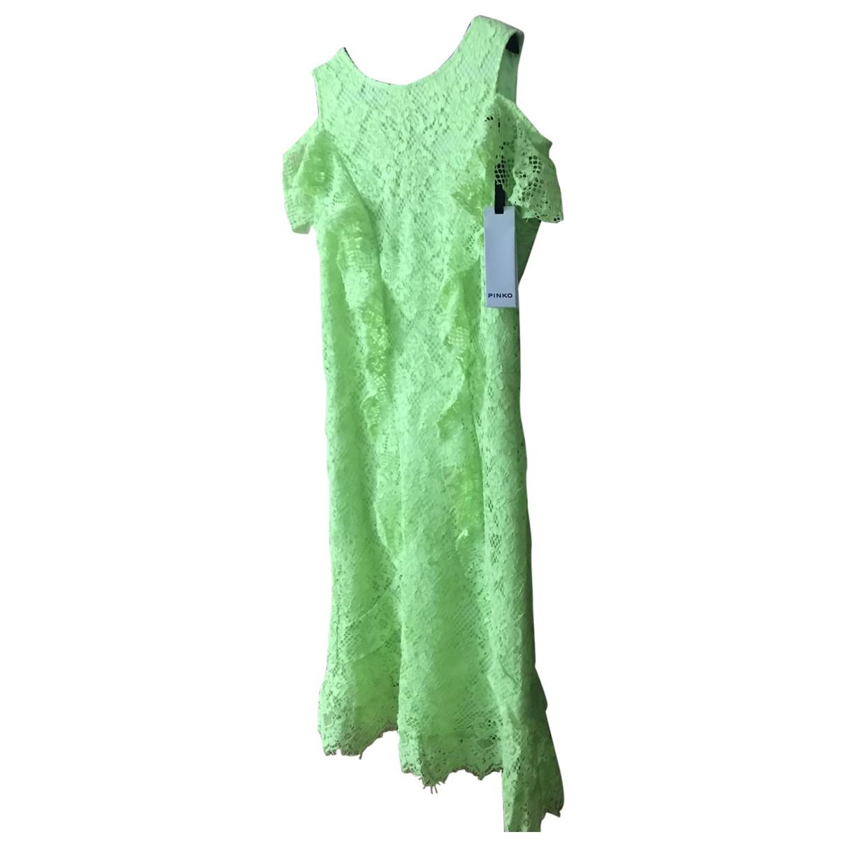 Patrizia Pepe \N Yellow Lace dress for Women 42 IT