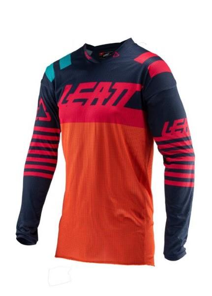 Leatt 5019011310 Ink/Orange GPX 4.5 X-Flow Jersey Small