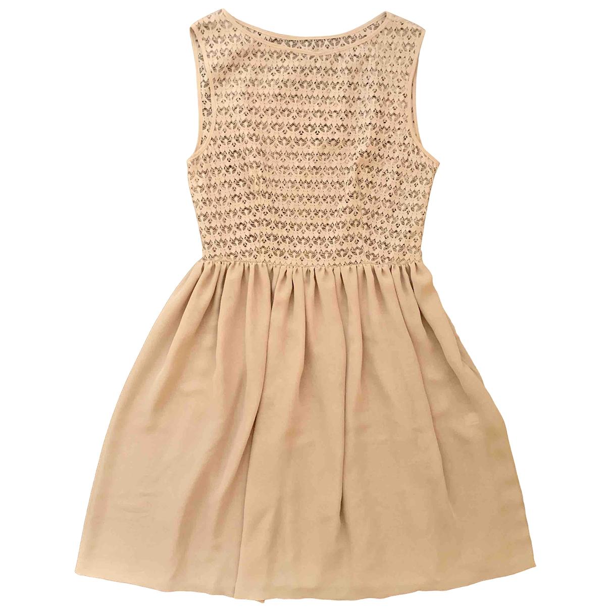 American Apparel \N Kleid in  Rosa Polyester