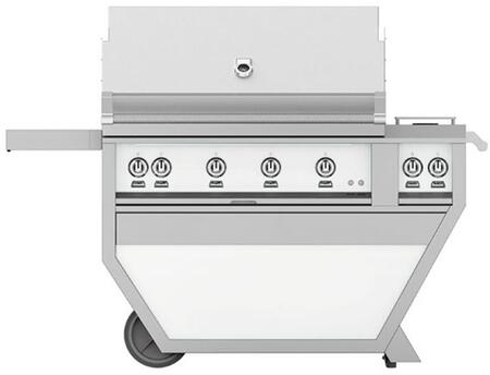 GSBR42CX2-NG-WH 42 Deluxe Freestanding Natural Gas Grill with up to 148 000 BTUs  Double Side Burner  Ceramic Infrared Top and Sear Burners  in