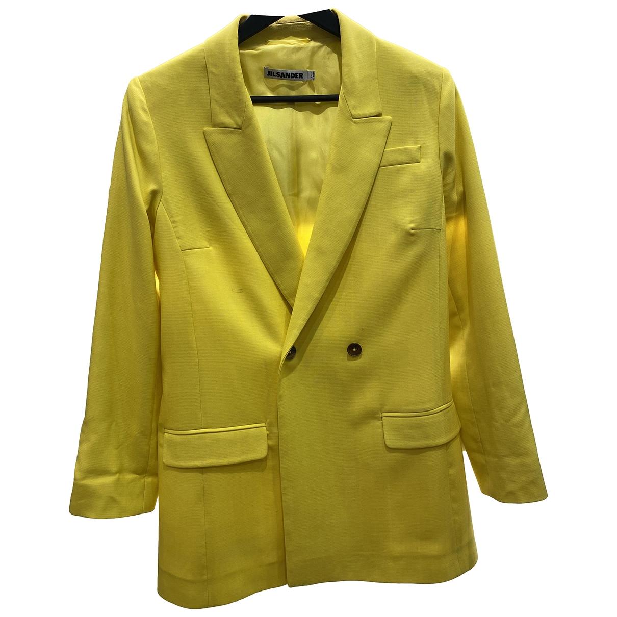 Jil Sander - Veste   pour femme en laine - jaune