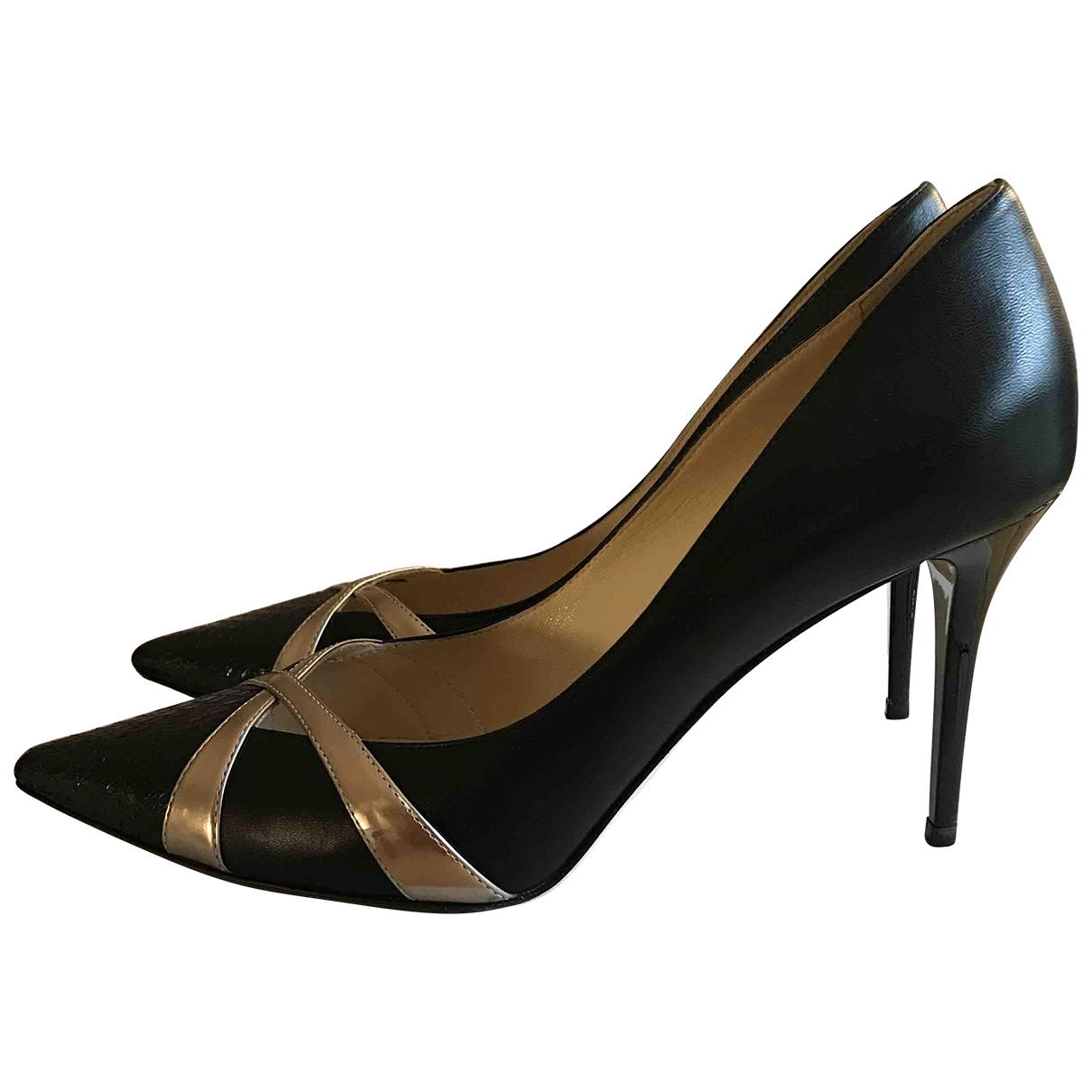 Jimmy Choo \N Black Leather Heels for Women 39.5 EU