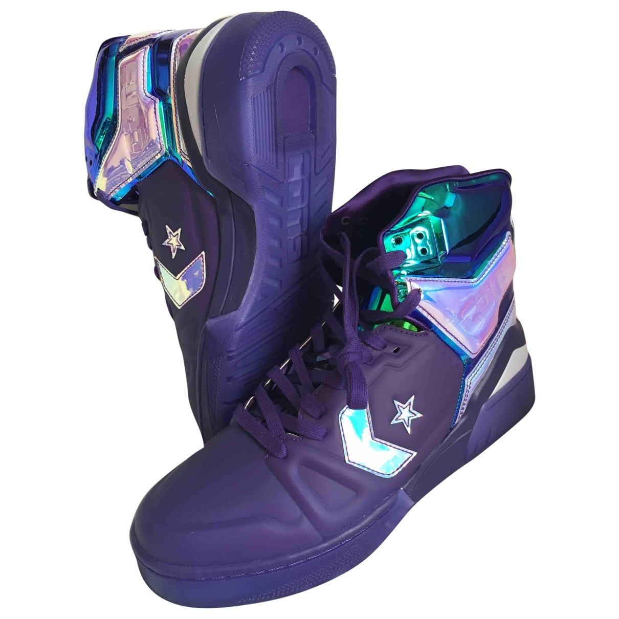 Converse \N Sneakers in  Lila Kunststoff
