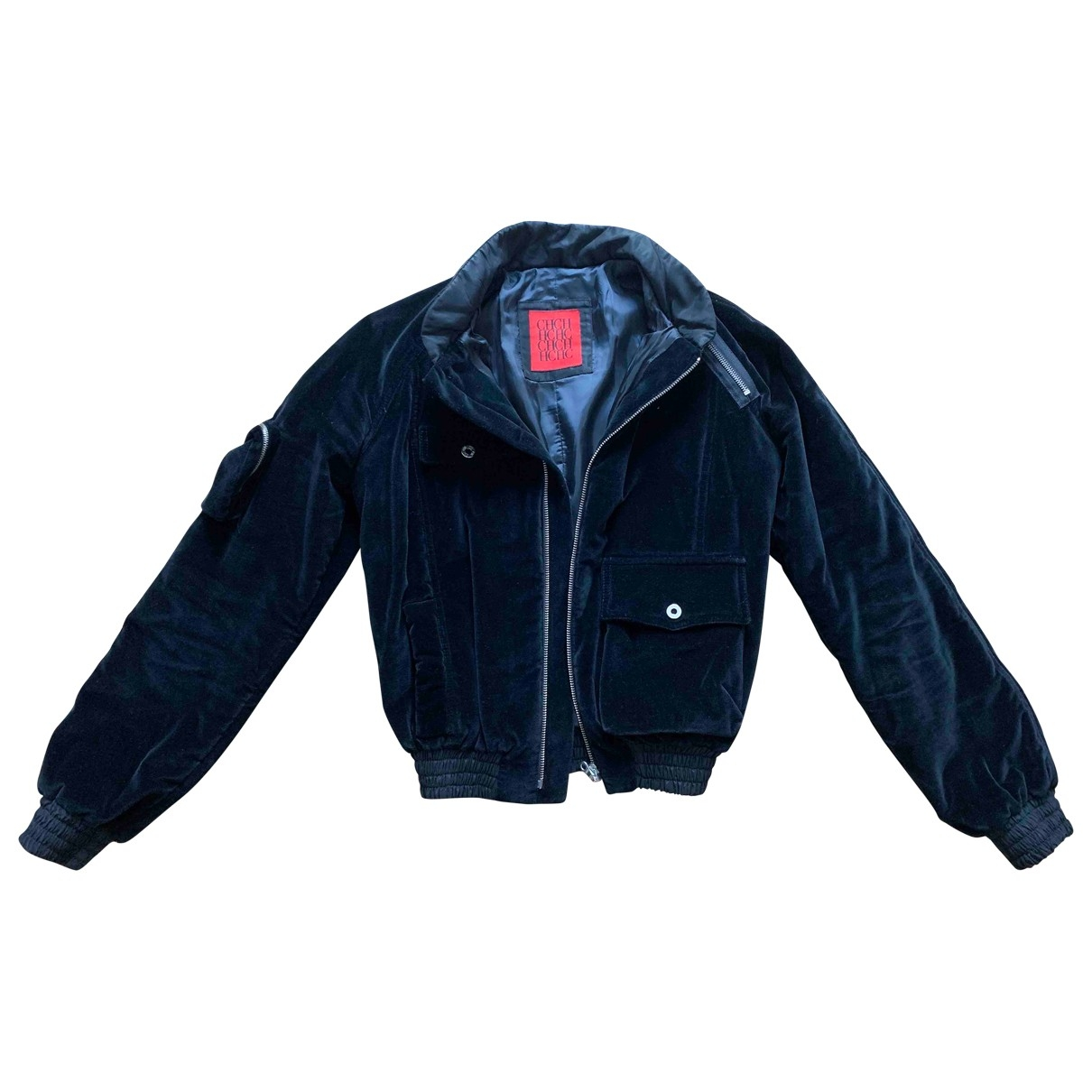 Carolina Herrera \N Black Velvet Leather jacket for Women M International