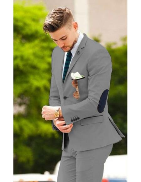 Mens Dark Brown suit with elbow patches (Slim Fit or Regular fit)