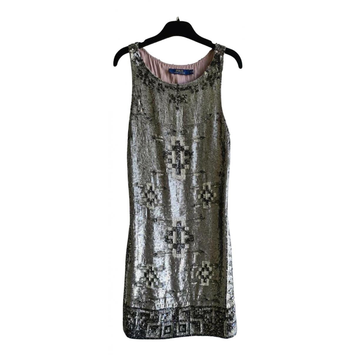 Polo Ralph Lauren \N Kleid in  Silber Mit Pailletten
