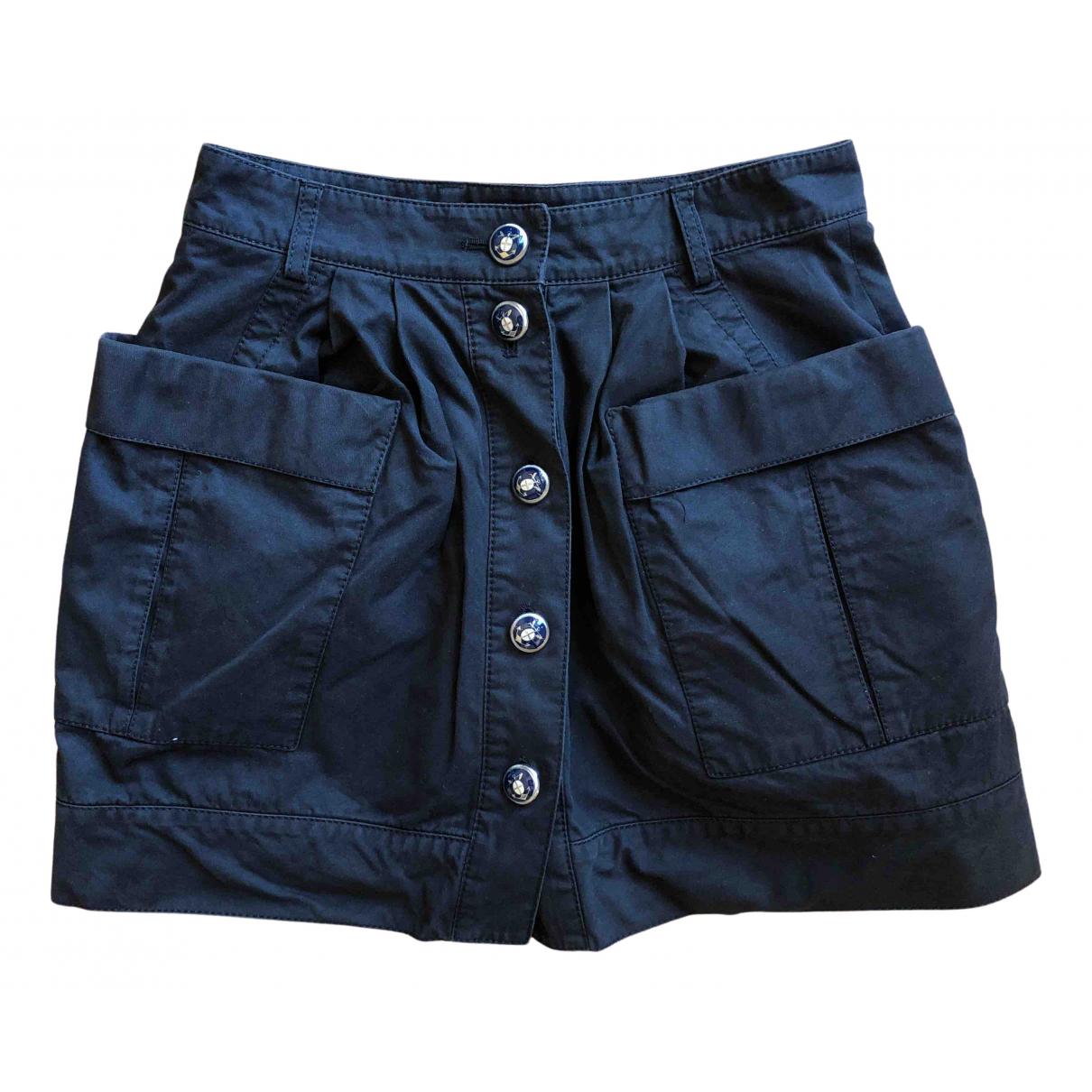 Balenciaga N Blue Cotton skirt for Women 38 FR