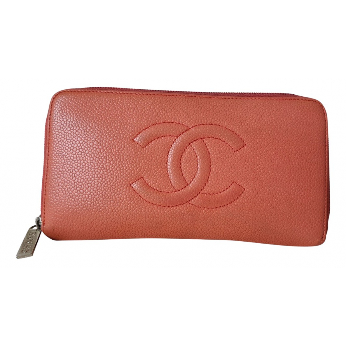 Chanel \N Portemonnaie in  Orange Leder