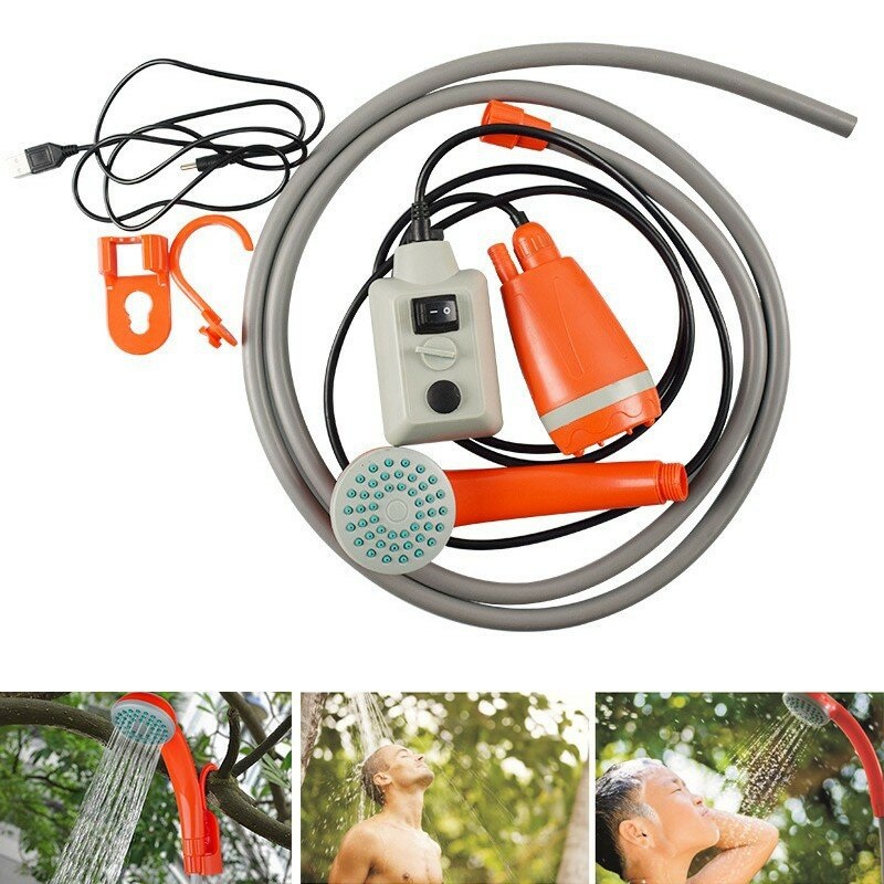 Outdoor Car Home Shower Head Rechargeable USB Portable Multi-purpose With Switch