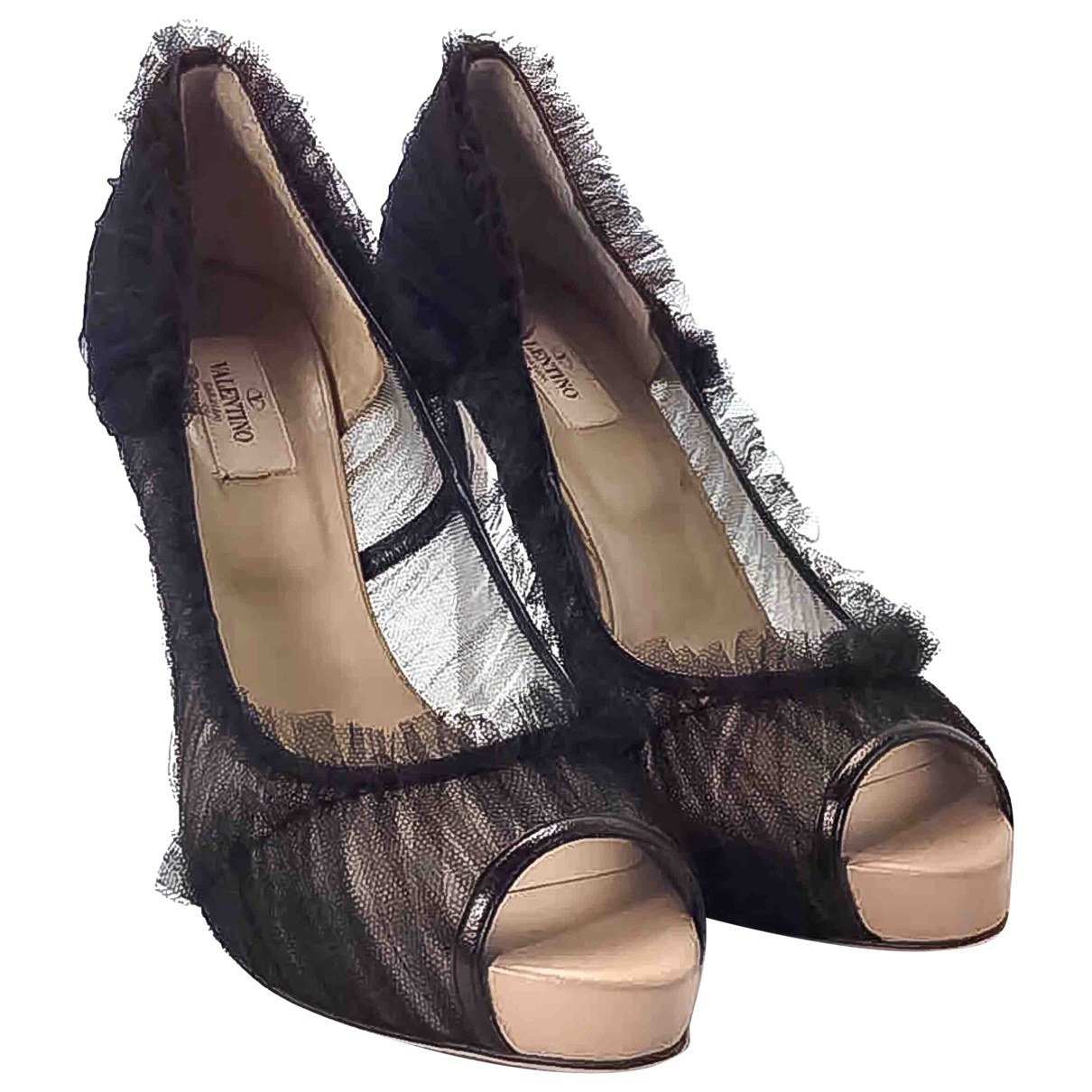 Valentino Garavani \N Black Cloth Heels for Women 40 EU