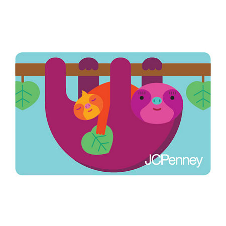 Sloth Gift Card, One Size , No Color Family