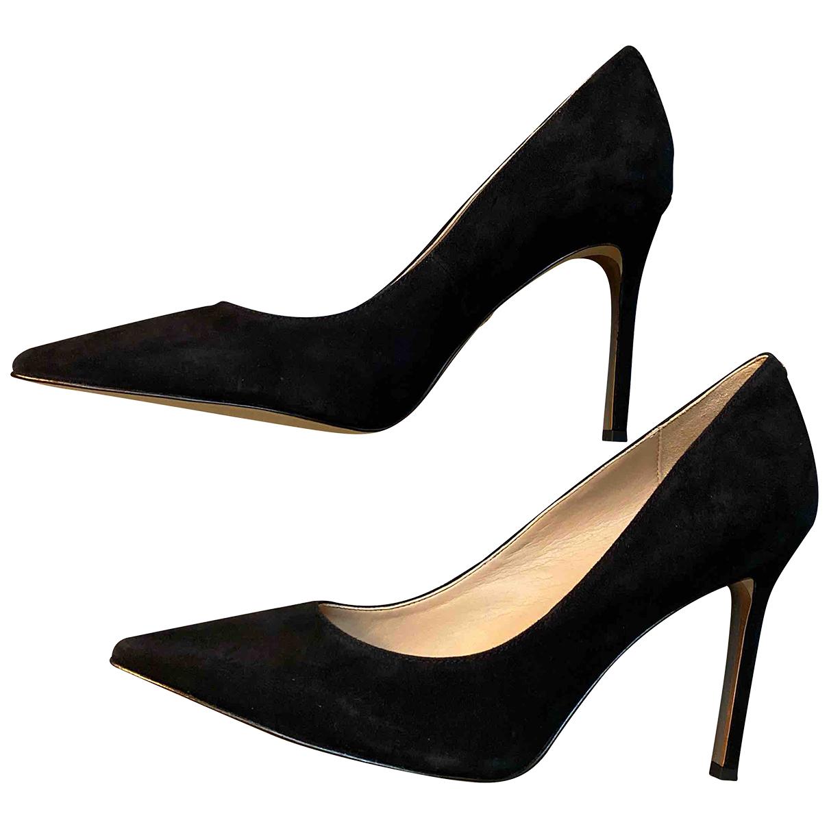 Sam Edelman N Black Suede Heels for Women 9 US