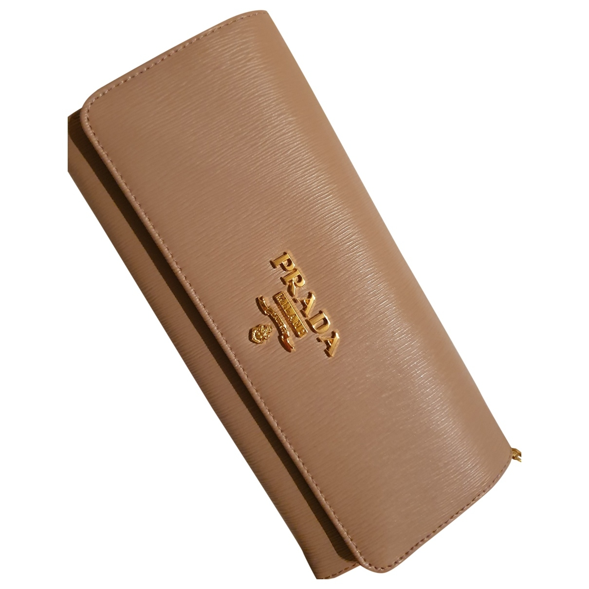 Prada - Sac a main   pour femme en cuir - beige