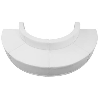 ZB-803-520-SET-WH-GG HERCULES Alon Series White Leather Reception Configuration 4