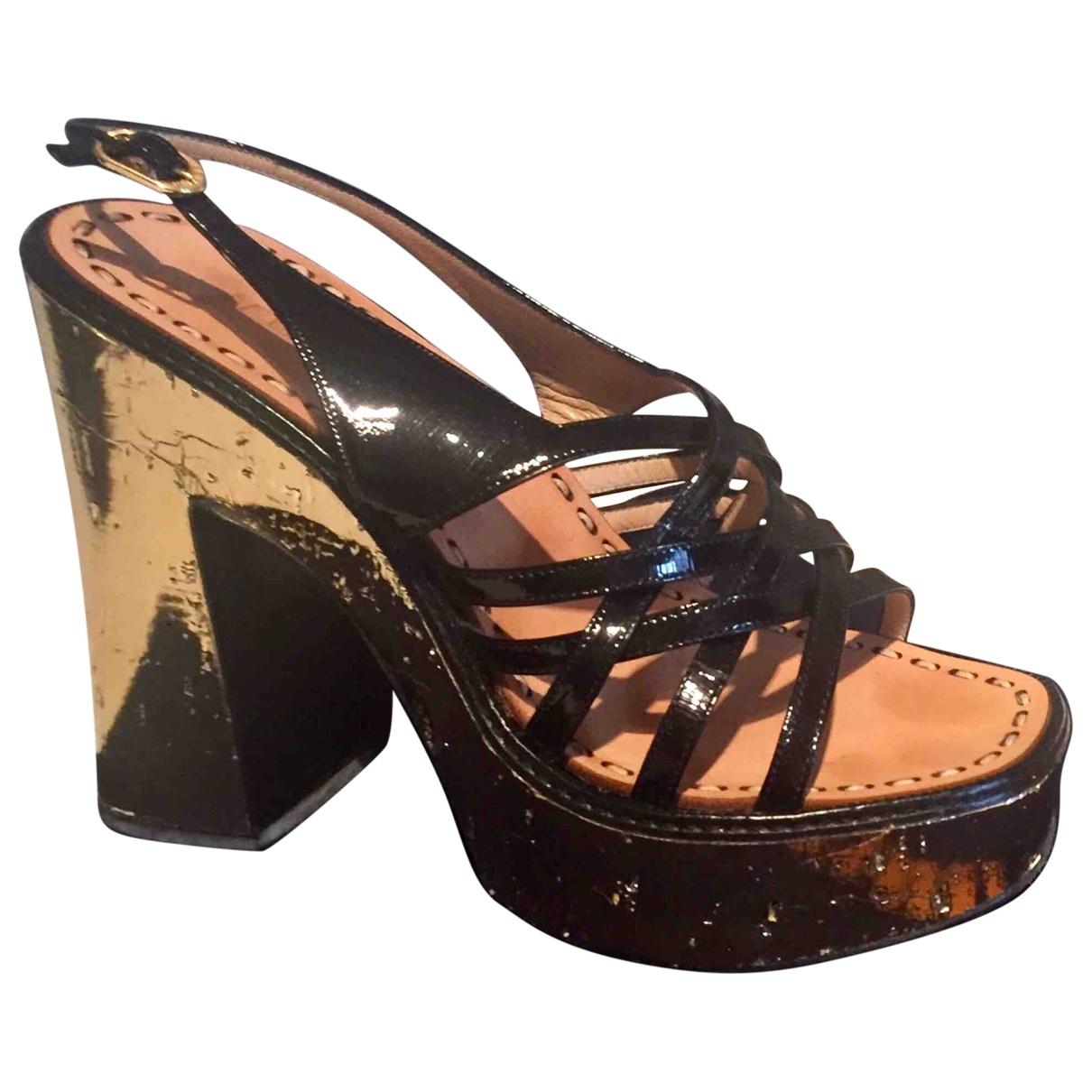 Le Silla \N Black Patent leather Sandals for Women 38 EU
