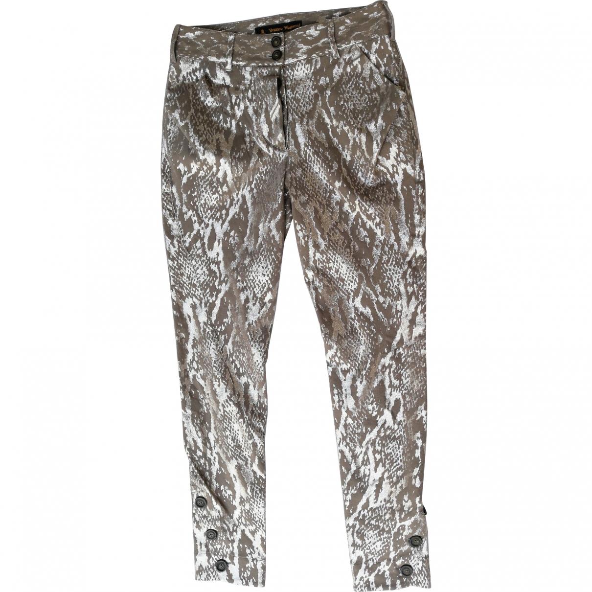 Vivienne Westwood \N Multicolour Cotton Trousers for Women 40 IT