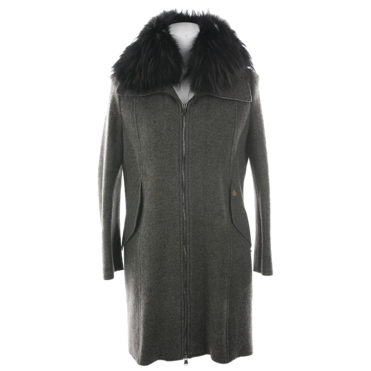 Falconeri \N Jacke in  Grau Wolle