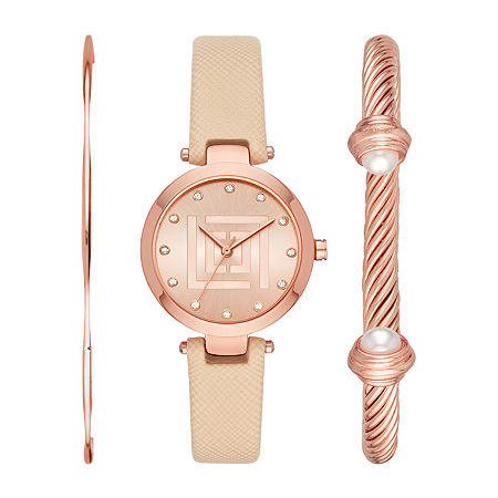 Liz Claiborne Womens Crystal Accent 3-pc. Watch Boxed Set-Lc1379t, One Size , No Color Family