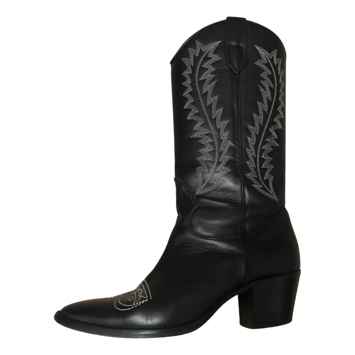 Paris Texas - Bottes   pour femme en cuir - noir