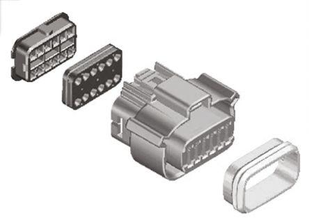 Molex , MX120G Female Connector Housing, 3.2mm Pitch, 12 Way, 2 Row (5)