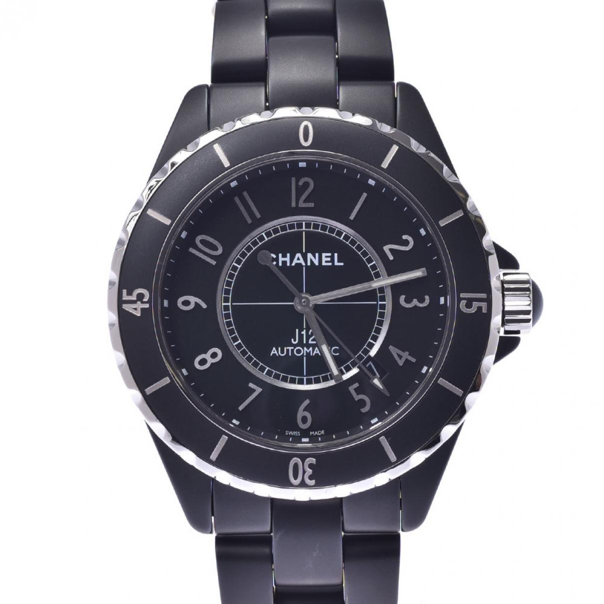Chanel J12 Automatique Uhr in  Silber Keramik