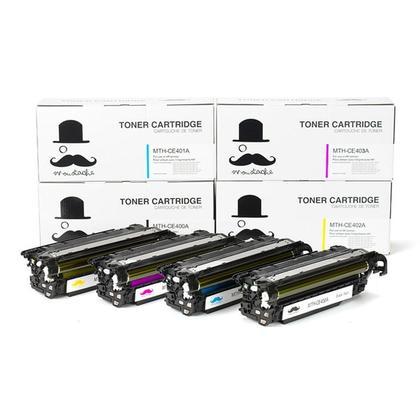Compatible HP 507A cartouche de toner combo BK/C/M/Y - Moustache@