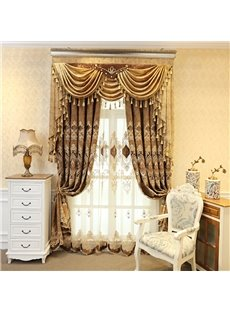 Vintage Embroidery Window Grommet Top Sheer Curtains for Living Room