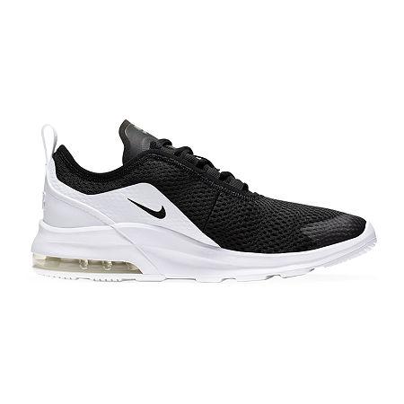 Nike Air Max Motion 2 Big Kids Boys Running Shoes Lace-up, 3 1/2 Medium, Black