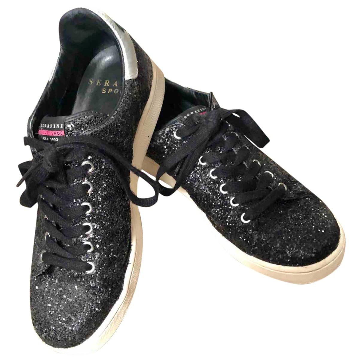 Serafini - Baskets   pour femme en a paillettes - noir