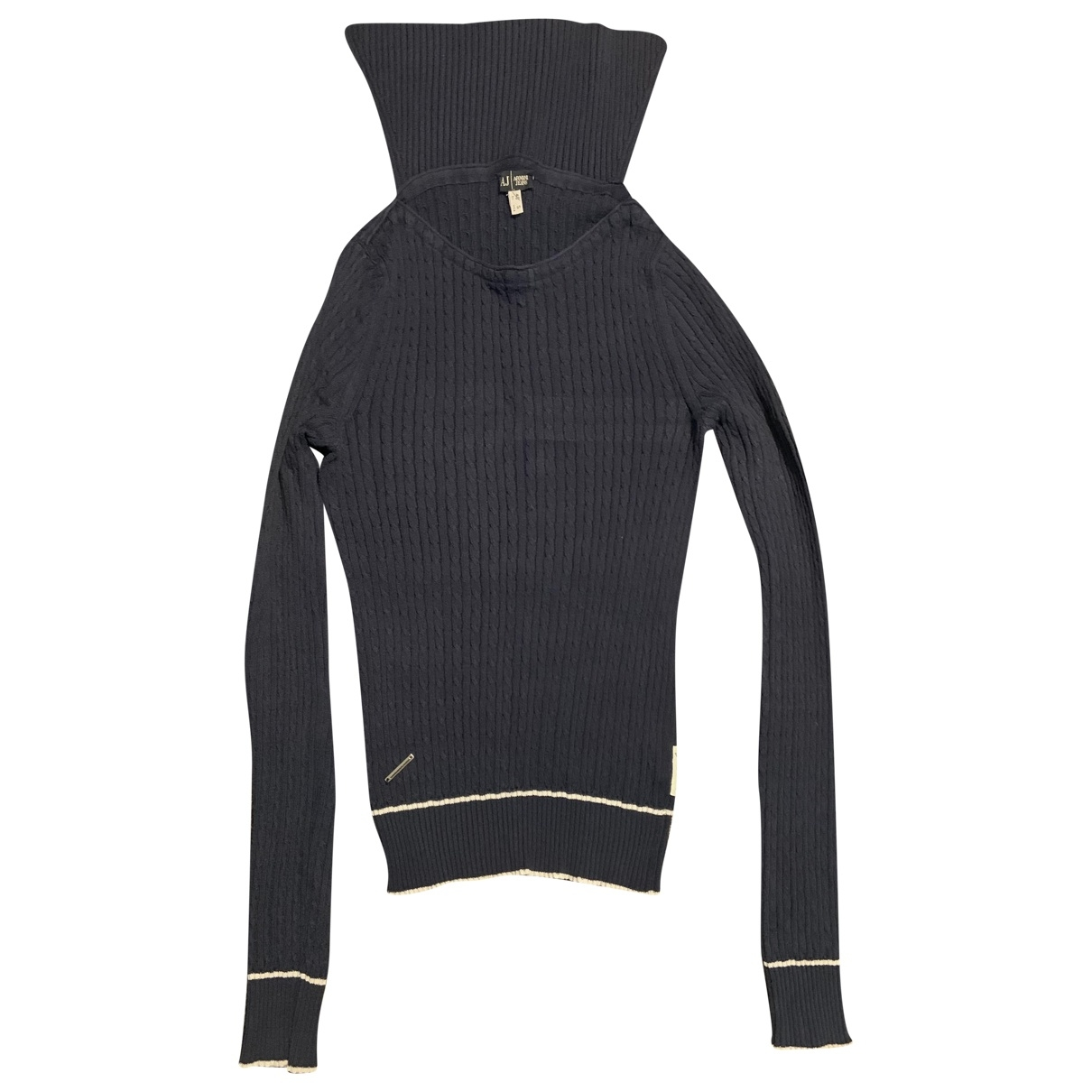 Armani Jeans \N Pullover in  Blau Wolle