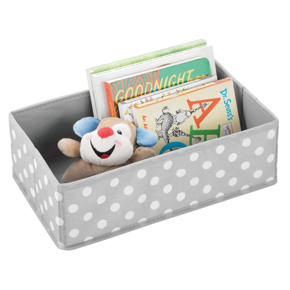 Kids Fabric Closet / Dresser Drawer Storage Organizer in Gray/White, 12