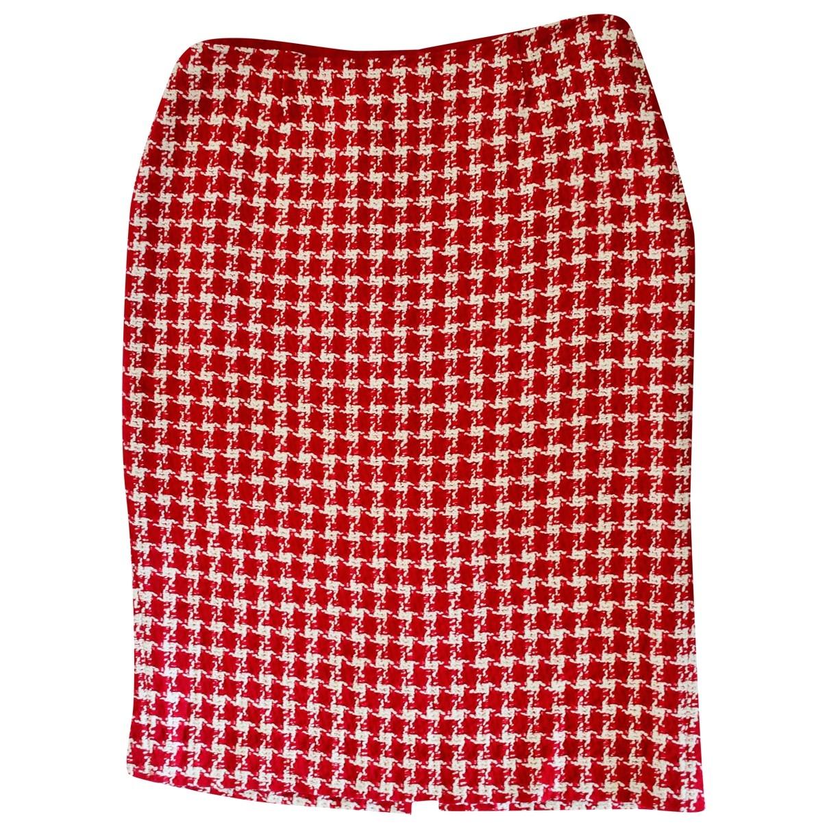 Hobbs - Jupe   pour femme en laine - rouge