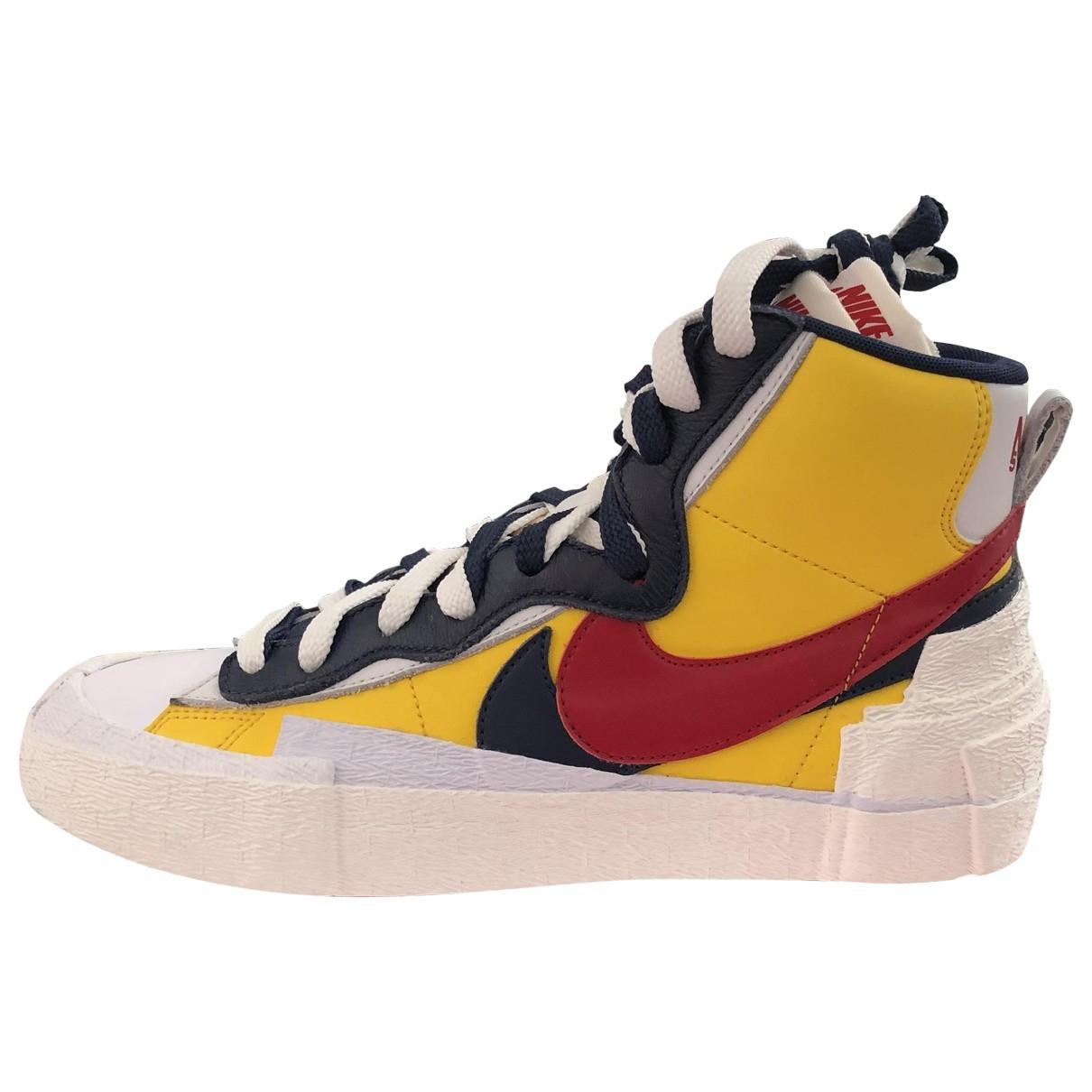 Nike X Sacaï Blazer Mid Yellow Cloth Trainers for Men 8 US