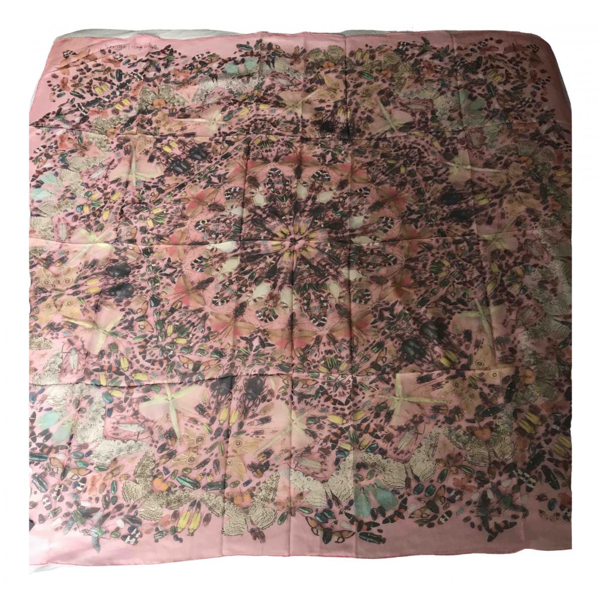 Damien Hirst - Foulard   pour femme en soie - rose
