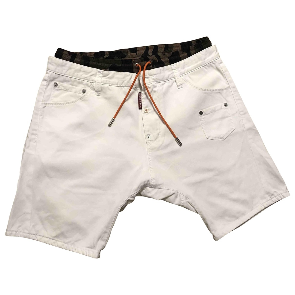 Dsquared2 \N White Cotton Shorts for Men 46 IT