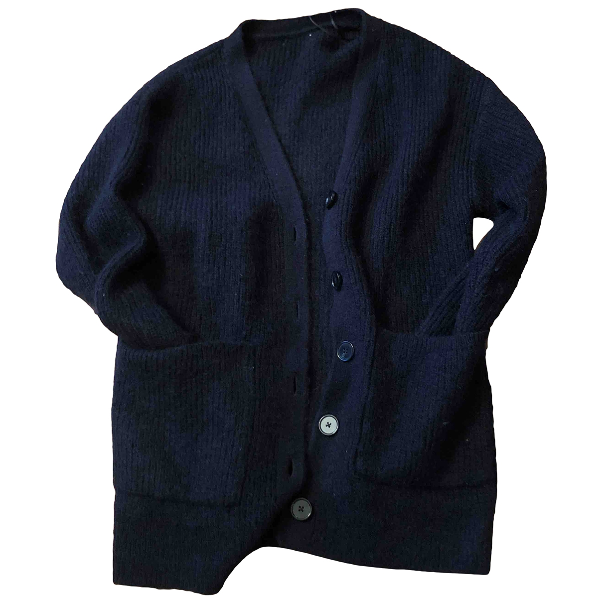 Non Signé / Unsigned \N Blue Wool Knitwear for Women 36 FR