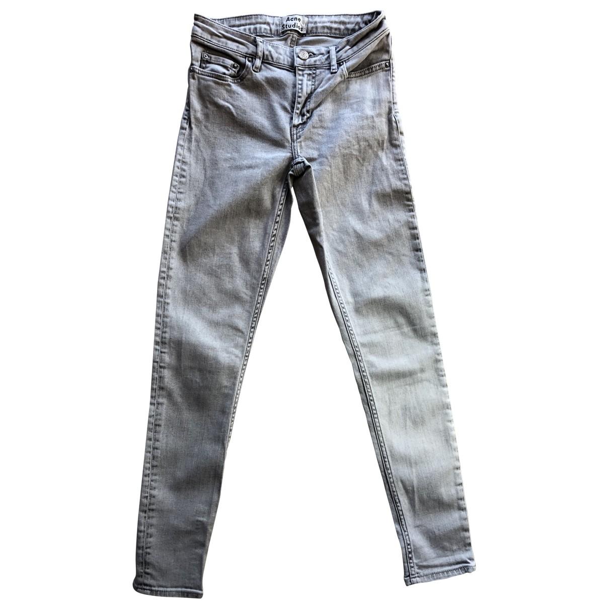 Acne Studios Skin 5 Grey Cotton Jeans for Women 26 US