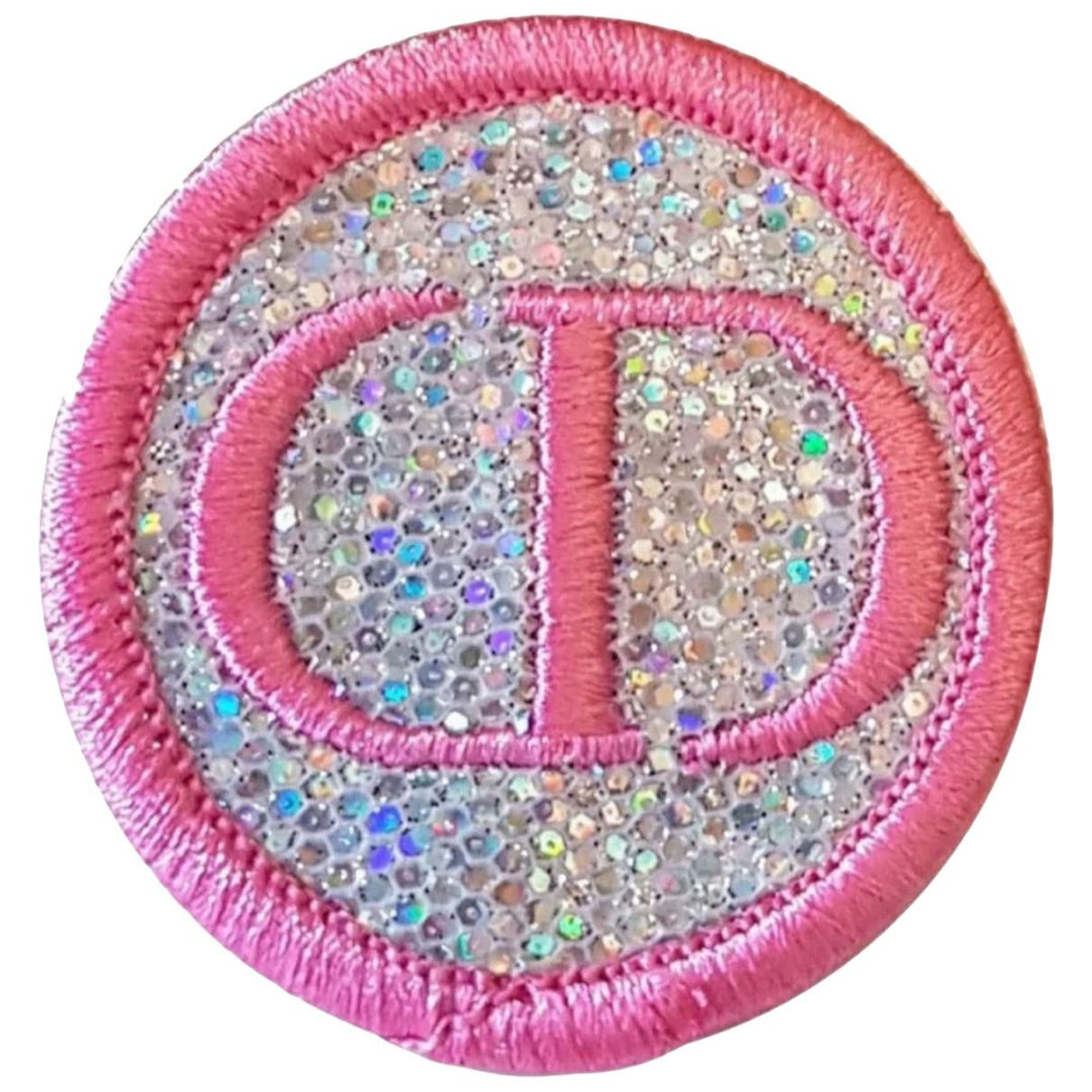 Dior \N Brosche in  Rosa Leinen