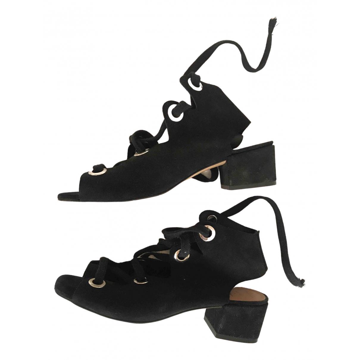 Bimba Y Lola N Black Suede Sandals for Women 38 EU