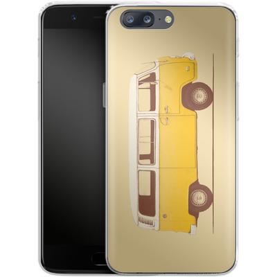 OnePlus 5 Silikon Handyhuelle - Yellow Van von Florent Bodart