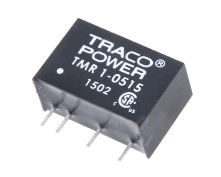 TRACOPOWER TMR 1 1W Isolated DC-DC Converter Through Hole, Voltage in 4.5 → 9 V dc, Voltage out 24V dc