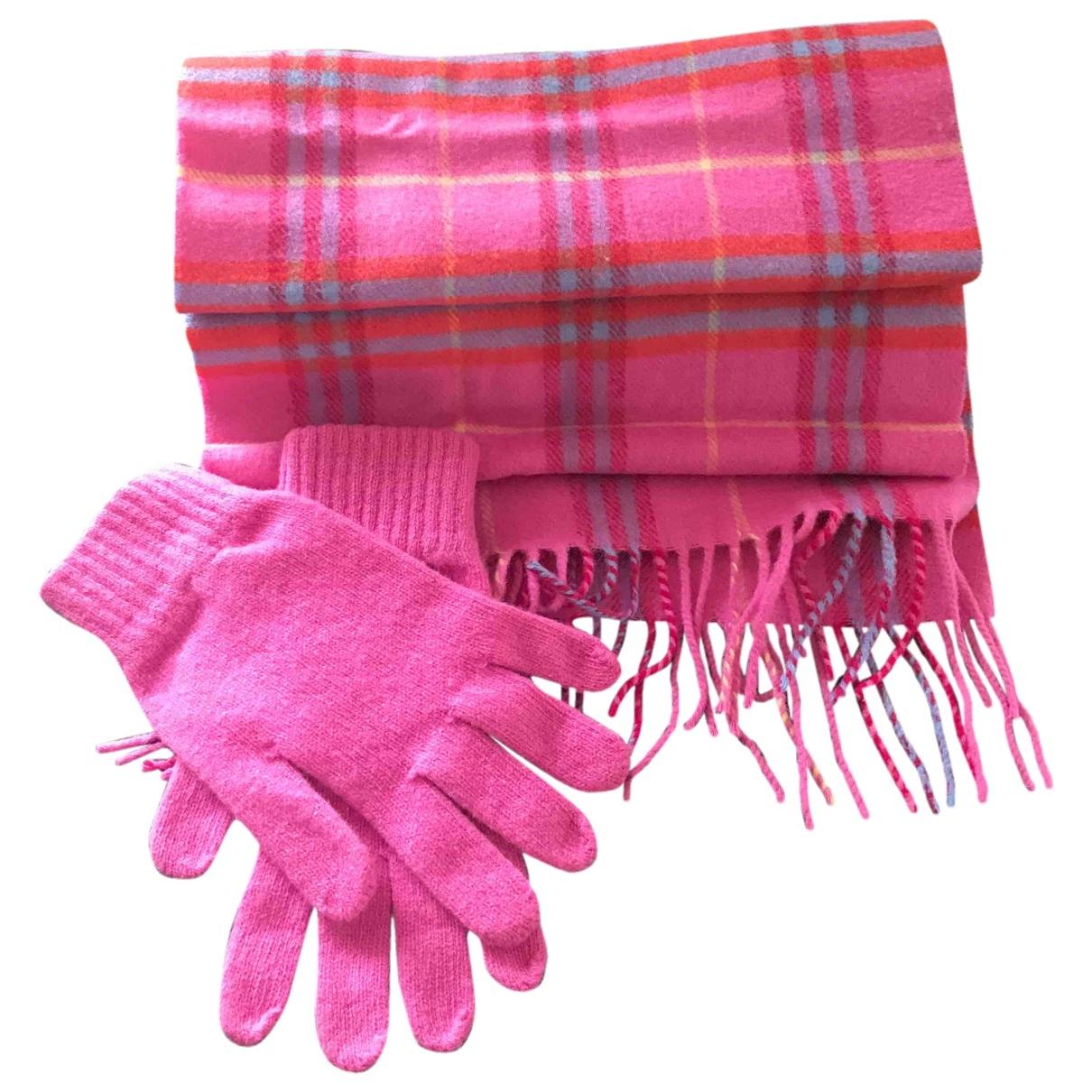 Burberry - Foulard   pour femme en laine - rose