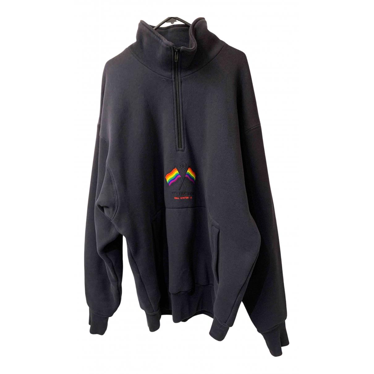 Balenciaga \N Pullover.Westen.Sweatshirts  in  Marine Baumwolle