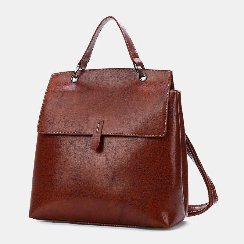 Women Multi-pocket Large Capacity Multi-carry Anti-theft Backpack Handbag Shoulder Bag
