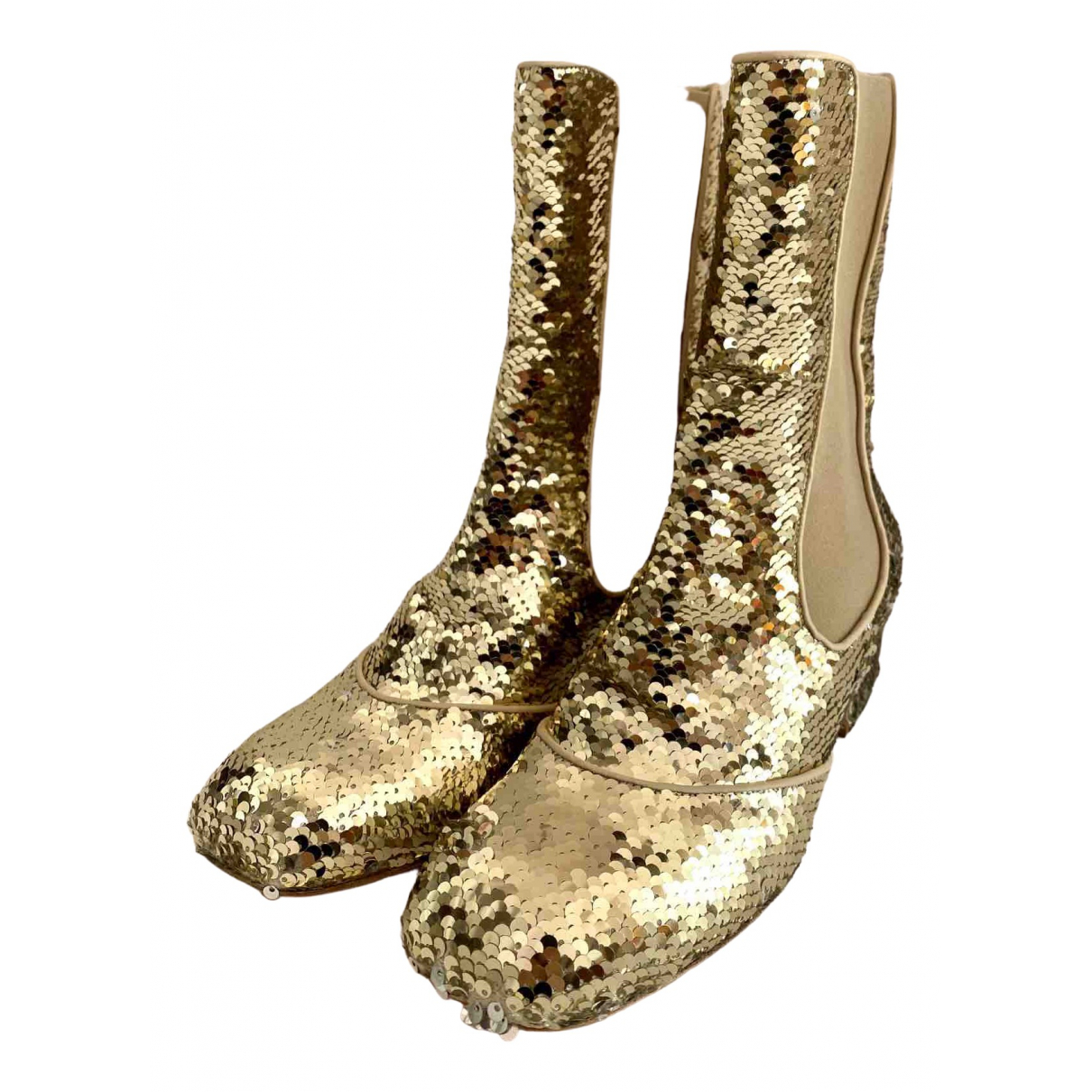 Laurence Dacade \N Gold Glitter Ankle boots for Women 39 EU