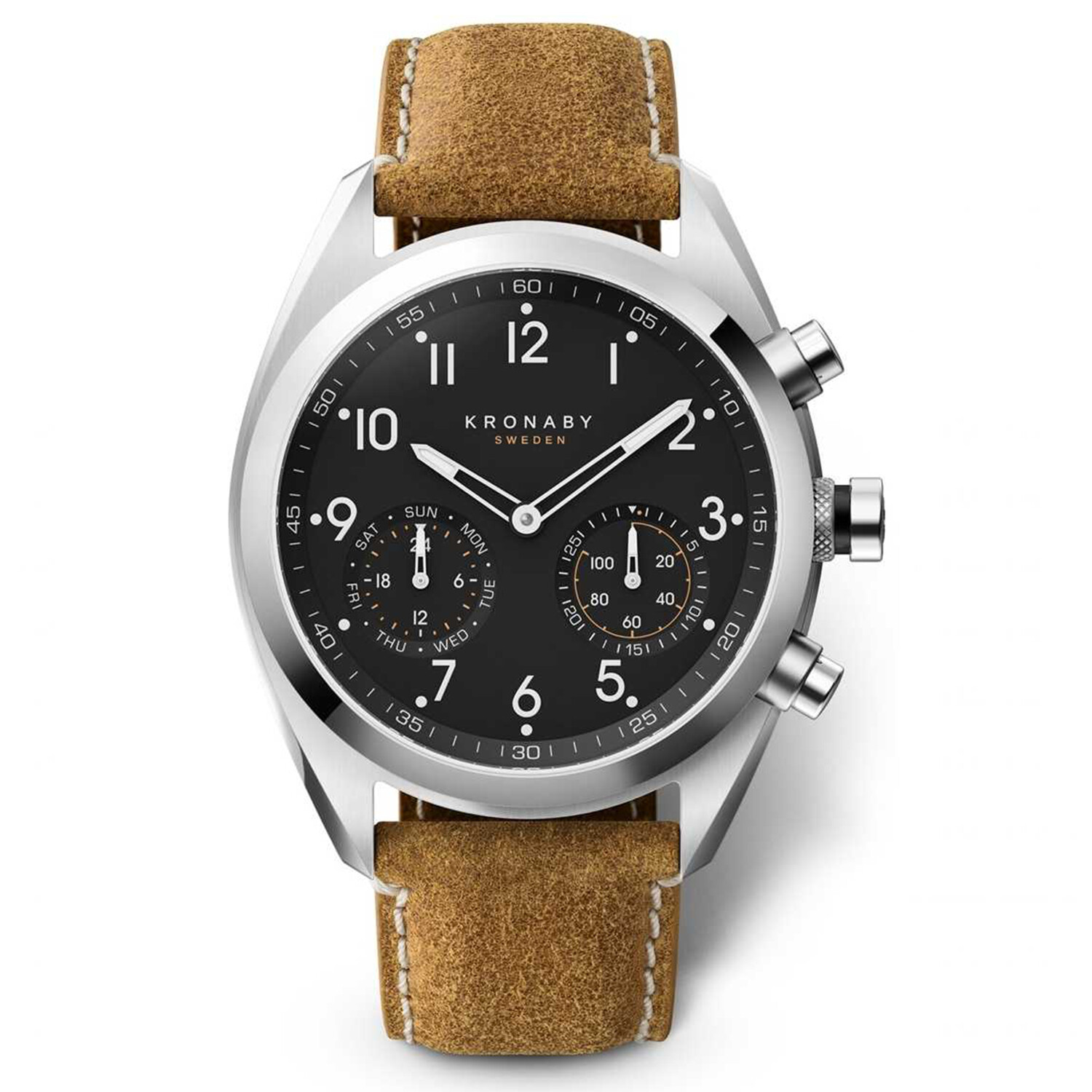 Kronaby Apex S3112-1 Brown Leather Automatic Self Wind Smart Watch
