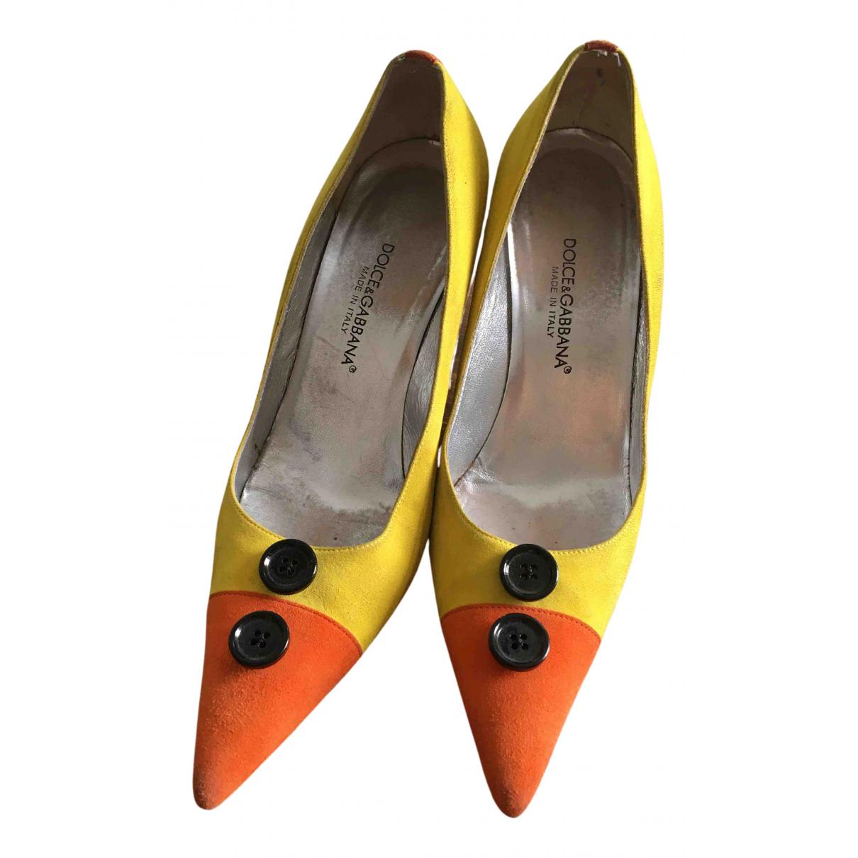 Dolce & Gabbana N Multicolour Suede Heels for Women 37.5 EU