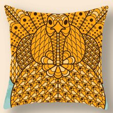 Thanksgiving Day Pattern Cushion Cover Without Filler