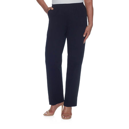 Alfred Dunner Twill Pull-On Pants, 18 Short , Blue